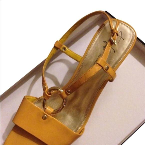 Franco Sarto Shoes   Glare Yellow Wedge Sling Back   Poshmark 587fe8c3cd